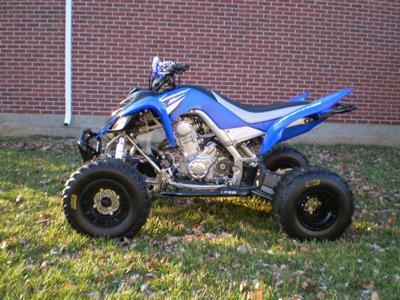 Blue 2008 Yamaha Raptor 700R