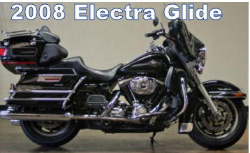 2008 Harley Davidson Electra Glide Classic FLHTCU ULTRA  w Black and chrome paint color scheme.