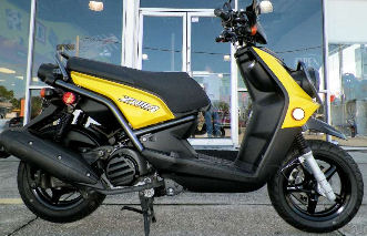 2009 Yamaha Vino 125 w 4 stroke fuel injected engine and yellow paint color option