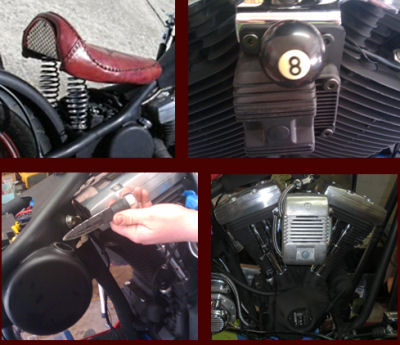 2010 Harley Davidson Old School Chopper Engine and Accessories