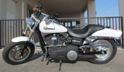 2011 Harley Davidson Fat Bob FXDF with White Hot Denim Paint Color Option