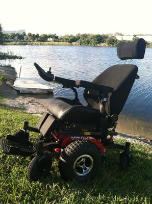All Terrain Power Scooter Wheelchair (this photo is for example only; please contact seller for pics of the actual mobility scooter for sale in this classified)