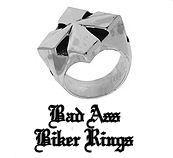 sterling silver king baby biker ring cross maltese motorcycle
