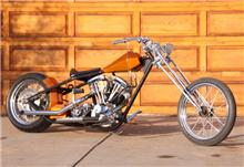 Barely Street Legal Custom 2003 Harley Davidson Chopper HARDTAIL CHOPPER with a girder front end, Keith Black pistons, a 1976 Harley Shovelhead engine, Headquarter heads, Jim's high volume oiler, an S & S two barrel carburator,a HD 4 speed transmission w Baker gears