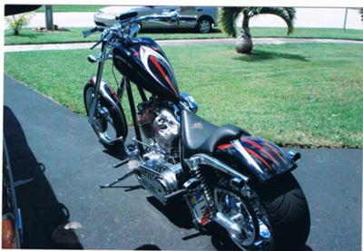 Custom 2007 Magnum Chopper 124 cc, 6 speed tranny 4