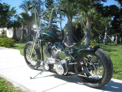 CUSTOM BOBBER,POWDERCOATED FRAME AND WHEELS,SPRINGER FRONT END,BILLET CONTROLS,100CC,110HP REV