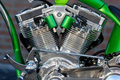 Candy Apple Green Custom Pro Street Motorcycle Motor (example only; please contact seller for pics)