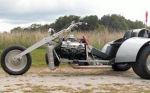 Custom V8 Trike Motorcycle