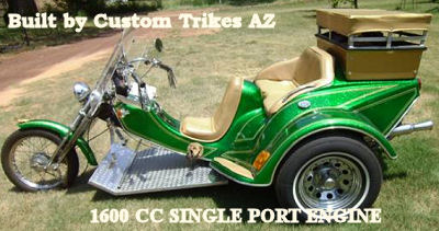 Custom 1995 VW Trike  (this photo is for example only; please contact seller for pics of the actual motorcycle for sale in this classified)