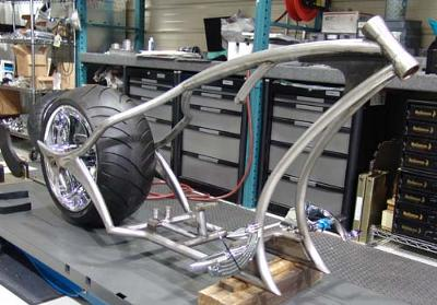 Diamond Chassis Chopper Frame and Lusso Wheel