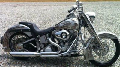 First Year 1990 Harley Davidson Fatboy w custom Silver and Gray Paint Job