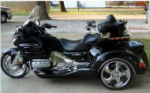 Black Custom 2008 Honda Goldwing Roadsmith Trike