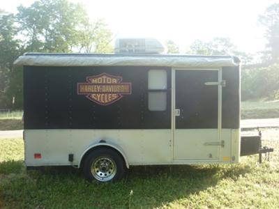 HARLEY DAVIDSON TOY HAULER ENCLOSED MOTORCYCLE CAMPER TRAILER
