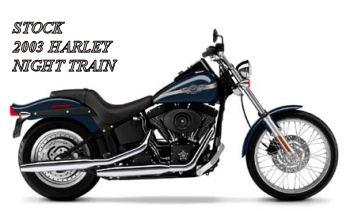 Vivid Black Gunmetal Pearl Gray Paint 2003 HD NIGHT TRAIN FXSTB Harley Davidson