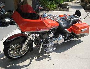 Orange FLTR FLTRI 2009 SCREAMIN HARLEY DAVIDSON DAVISON SCREAMING EAGLE ROAD GLIDE TOURING MOTORCYCLE