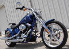2009 HARLEY SOFTAIL ROCKER C chopper bobber factory stock FXCWC blue