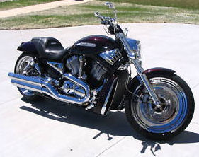 Black Cherry Pearl Custom Motorcycle Paint 2005 Harley Davidson VRSCB V-Rod 240 Vrod