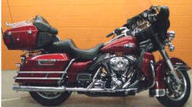 2008 Harley Davidson Electra Glide Ultra Classic FLHTCU with Candy Red Sun paint color and pinstripes