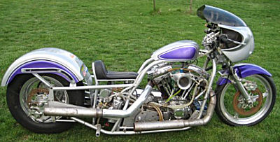 Harley Davidson HD Drag Bike Pro Modified Motorcycle w Chromoly frame, 119 ci Harley Davidson motor  200 hp