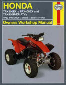 Honda TRX 300 400 450 ER ATV 1993 1994 1995 1996 1997 1998 1999 2000 2001 2002 2003 2004 2005 2006 New Haynes Manual atv owner repair service