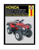 Honda Rancher, Recon & Trx250ex Atv's - Manuals, Edit N New Haynes Manual atv owner repair service