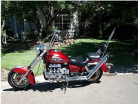 1997 Honda Valkyrie Chopper Unique Bike Candy Apple Red paint color custom
