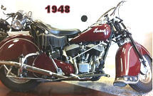 Restored 1948 Indian Chief Motorcycle