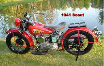 Restored 1941 Indian Scout Motorcycle