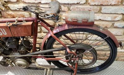 Old NSU 1908 Motorcycle before restoration