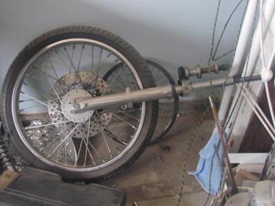 1977 Harley Davidson Ironhead Sportster Wheel and Rim