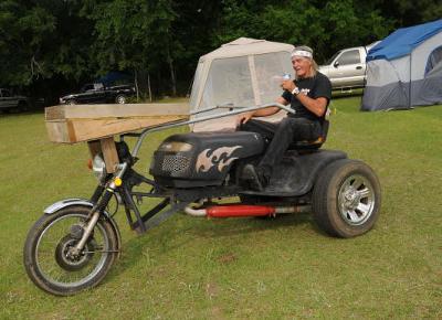 Shine in Lapine Rally Lawn Mower Custom Trike