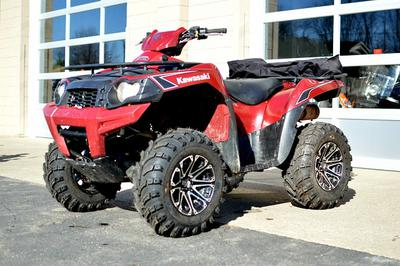 Red 2009 Kawasaki Brute Force 750i (this photo is for example only; please contact seller for pics of the actual used Kawasaki ATV for sale in this classified)