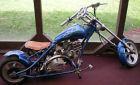 custom painted Harley Davidson mini chopper