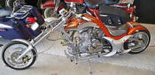 custom painted Harley Davidson mini chopper