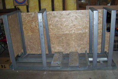 wood wooden aluminum steel motorcycle shipping crate