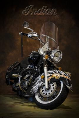 Suzuki C-50 Boulevard customized to look like an Indian Chief Vintage motorcycle