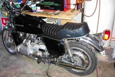 Black 1975 Honda Goldwing
