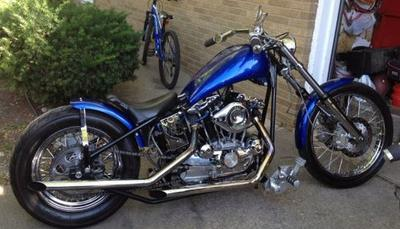 Old School 1973 Harley Davidson Ironhead Sportster