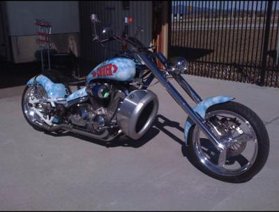One of a Kind AVIATOR themed custom chopper