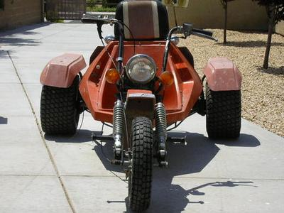 Front end of Rupp Tri Sport Three Wheeler Trike Motorcycle (this photo is for example only; please contact seller for pics of the actual Rupp Trike for sale in this classified)
