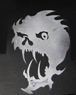 custom cut skull motorcycle tank fender stencil patterns