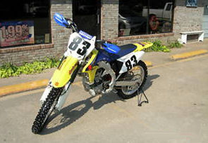 yellow 2008 Suzuki RM Z rmz 450 Dirt bike, KFX, YZF, CRF