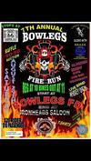 Seventh 7th Annual Bowlegs Fire Motorcycle Run in Oklahoma Flyer Poster