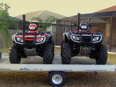 2006 Honda Rubicon ATVs and a Used Triton ATV Trailer