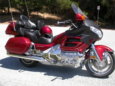 2003 Honda Goldwing GL 1800 with red paint color option