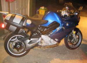 2007 BMW F800ST Metallic Blue Paint Color