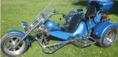 VW Rewaco Chopper Trike (this photo is for example only; please contact seller for pics of the actual motorcycle for sale in this classified)