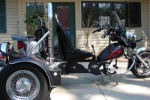 custom VW powered trike for sale flames
