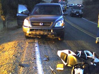 car bike wreck