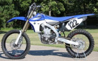 White 2008 Yamaha YZ450 yz 450 dirt bike dirtbike